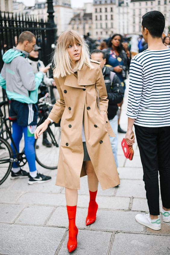 Red winter fashion   PFW street style   Girlfriend is Better