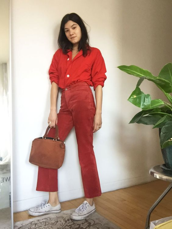 Head-to-toe red for winter fashion   Girlfriend is Better