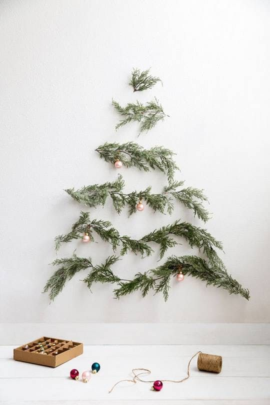 Christmas tree DIY   Evergreen branches Hygge decor   Girlfriend is Better