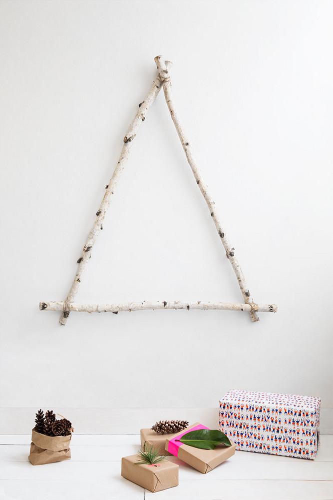 Christmas tree DIY using Birch branches   Hygge decor ideas   Girlfriend is Better