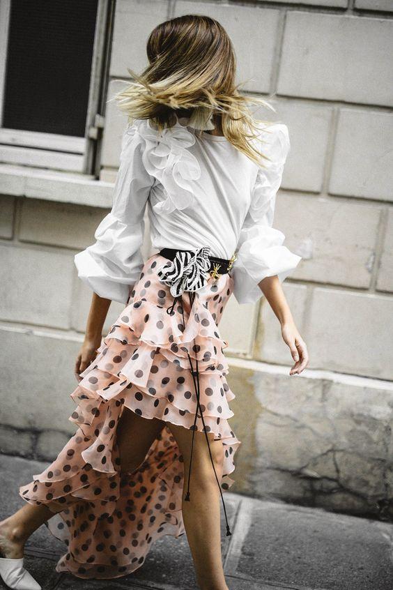 Johanna Ortiz polka dots dress with ruffles | Girlfriend is Better