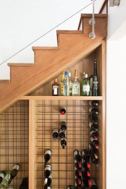 Sagittarius astrology home decor   Wine storage under stairs   Girlfriend is Better