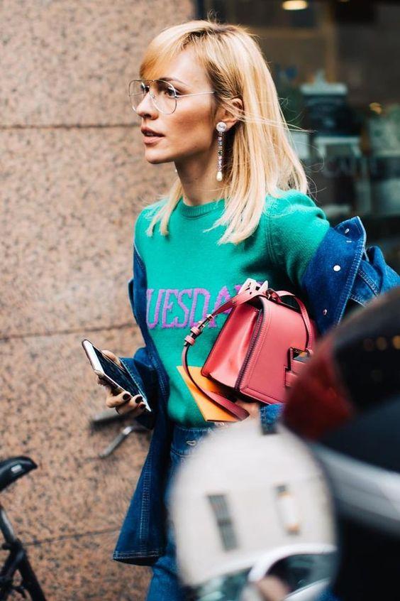 Milan Fashion Week Fall/Winter 2017-2018 | Red purse winter fashion | Girlfriend is Better