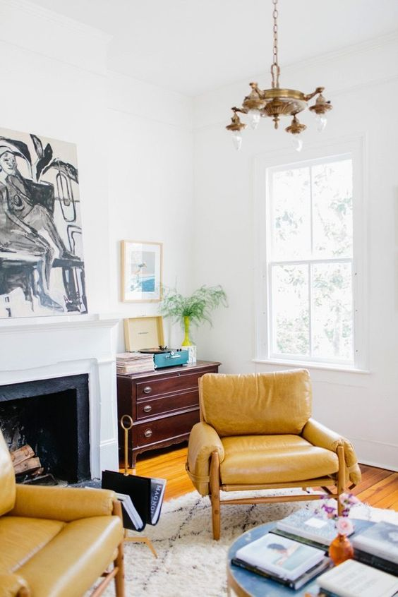 Capricorn astrology home decor guide   Yellow leather chairs   Girlfriend is Better