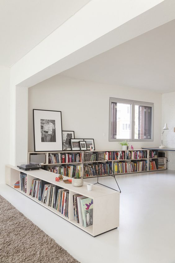 Aquarius astrology home decor guide   Contemporary bookshelves and art   Girlfriend is Better