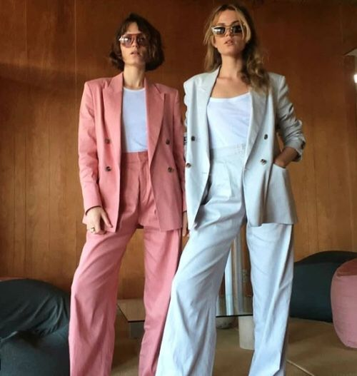 Double-breasted blazers   Pant suits women   Girlfriend is Better