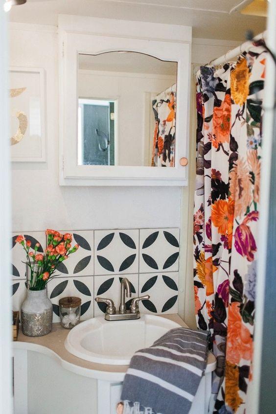 Best shower curtains under $50 | Bohemian decor | Girlfriend is Better