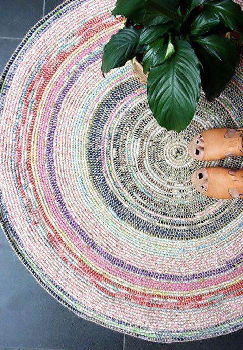 Spring Hygge decor   Scrap fabric rug   Girlfriend is Better
