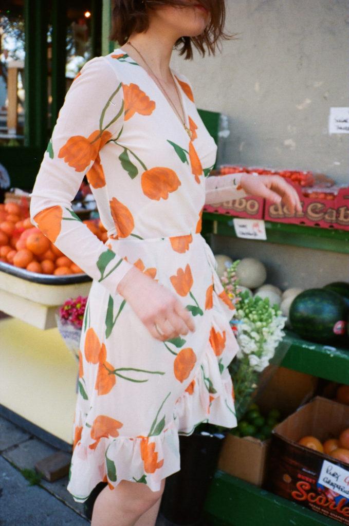 Easy outfits for Spring Break vacation Santa Barbara California   Tulip ruffled wrap dress   Girlfriend is Better