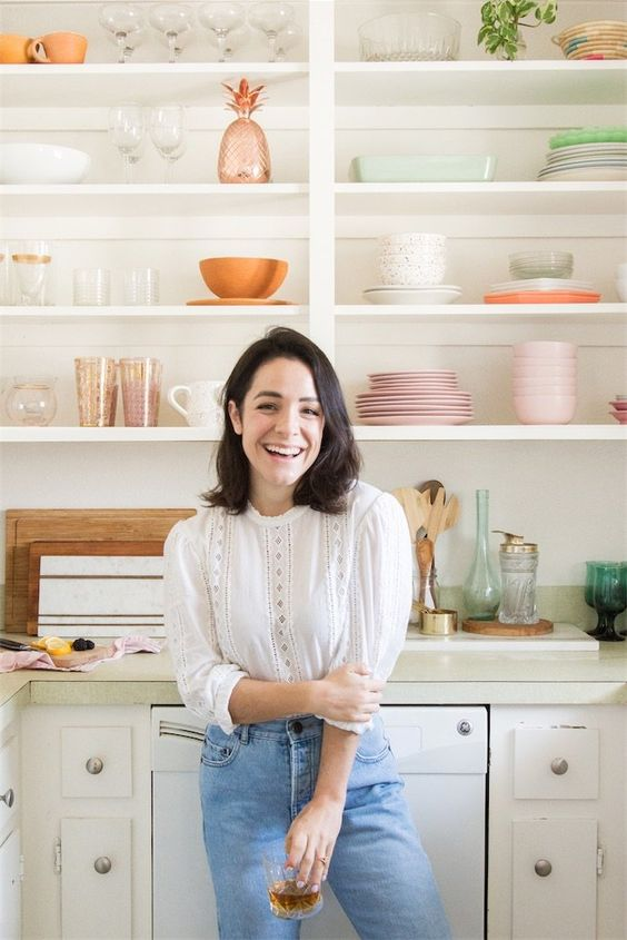 Organization ideas with open shelving | Kitchen | Girlfriend is Better