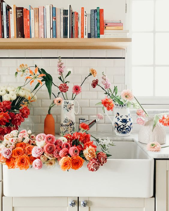 Aries astrology home decor guide | French country flowers open shelving books | Girlfriend is Better