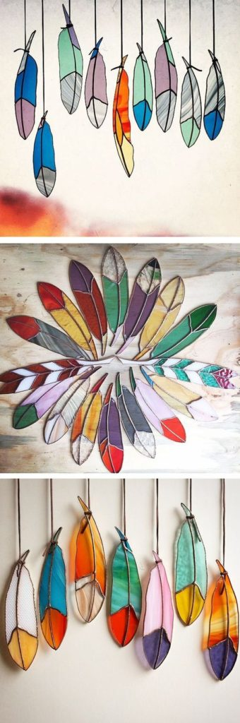 Stained glass feathers | Girlfriend is Better