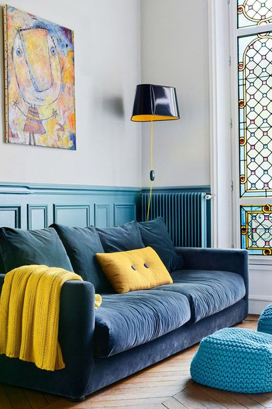 Stained glass window living room | French country | Girlfriend is Better