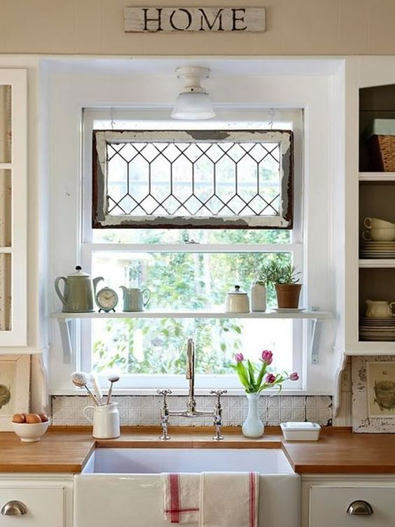 Stained glass kitchen window | French country | Girlfriend is Better