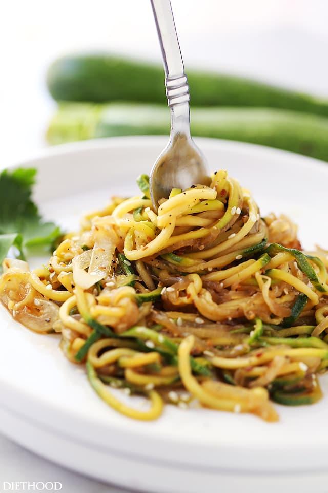 Zucchini Noodles Stir Fry recipe   10 minute meal   Girlfriend is Better