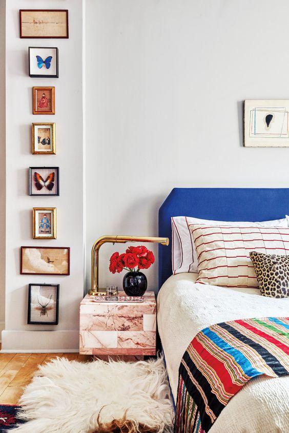 Flokati area rugs Bohemian bedroom | Girlfriend is Better