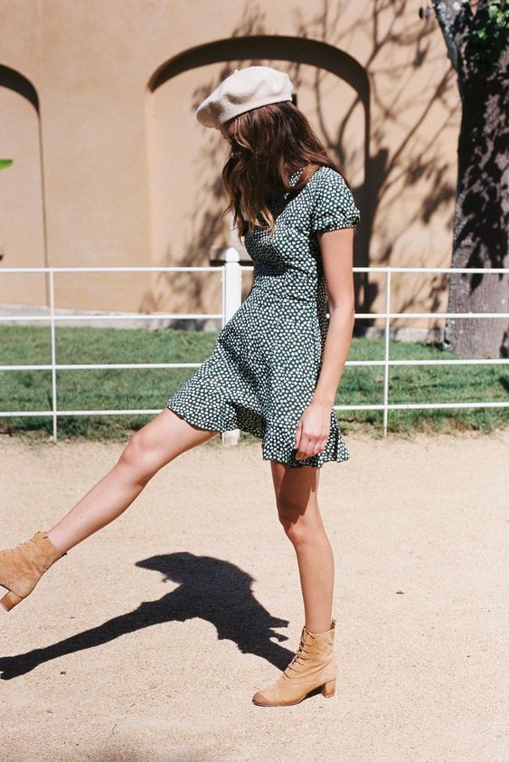 Berets and Spring floral dresses | Girlfriend is Better