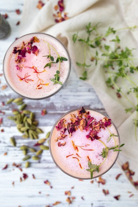 Spiced Rose Latte | Rose recipes | Girlfriend is Better