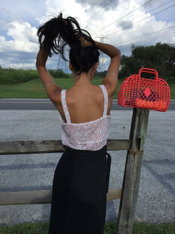 See through purses | Red retro jelly bag | Girlfriend is Better