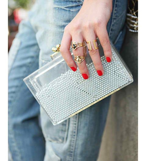 Partly see through purses | Transparent clutch | Girlfriend is Better