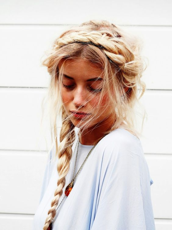 Crown of braids | French braided hair style | Girlfriend is Better