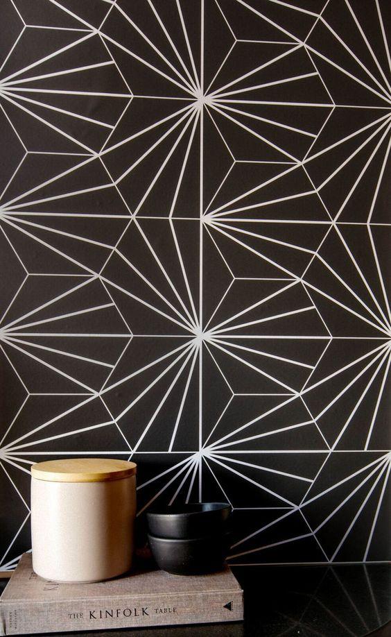 Gemini astrology home decor   Black starburst Italian tile   Girlfriend is Better