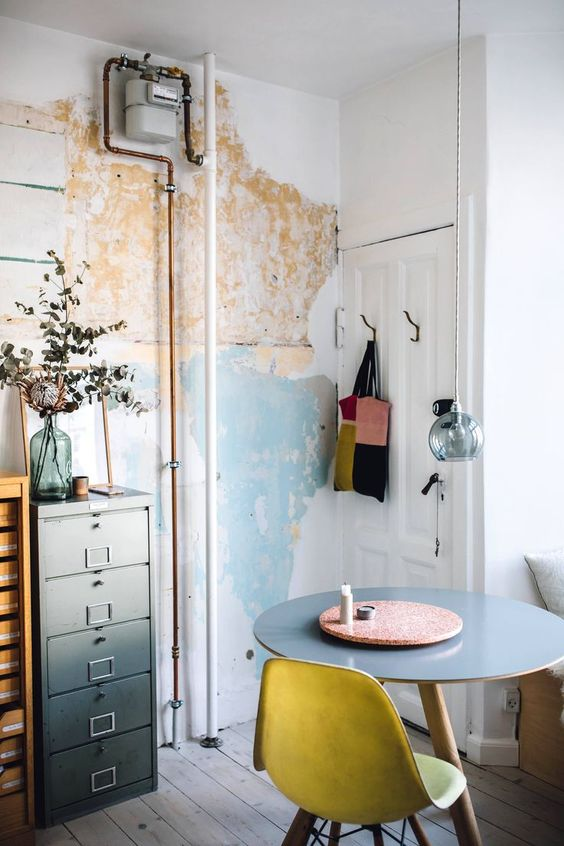 Home office filing cabinet | map mural | Girlfriend is Better