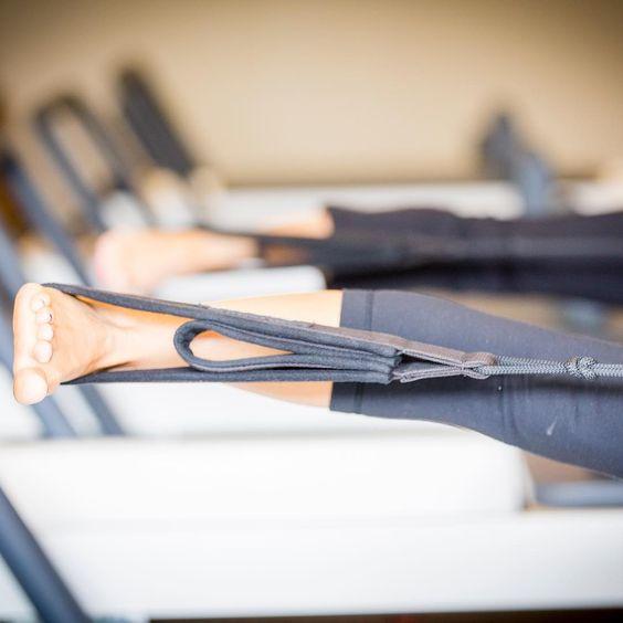 Pilates reformer excercises   leg straps resistance lengthen tone   Girlfriend is Better