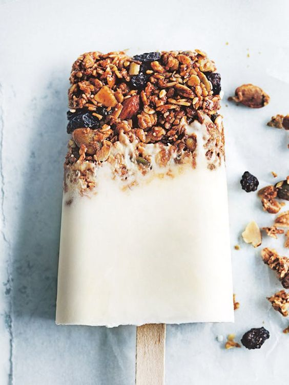 Blueberry-Ginger Coconut Cheesecake Popsicles   Healthy breakfast recipes   Girlfriend is Better