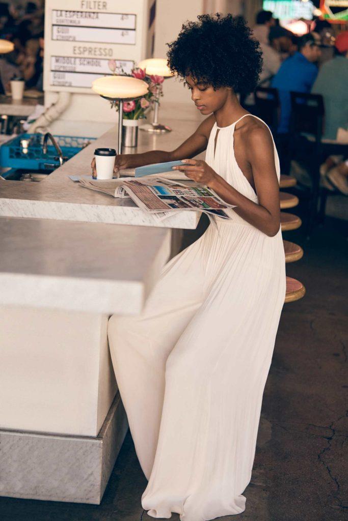 All white wide leg pants summer jumpsuits sleeveless   Girlfriend is Better