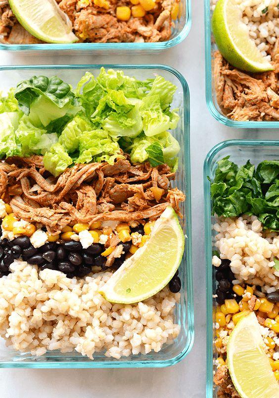 Meal Prep Carnitas Burritos healthy recipe   Girlfriend is Better