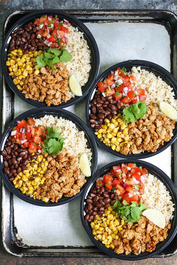 Chicken Burrito Bowl Meal Prep   Healthy recipes   Girlfriend is Better