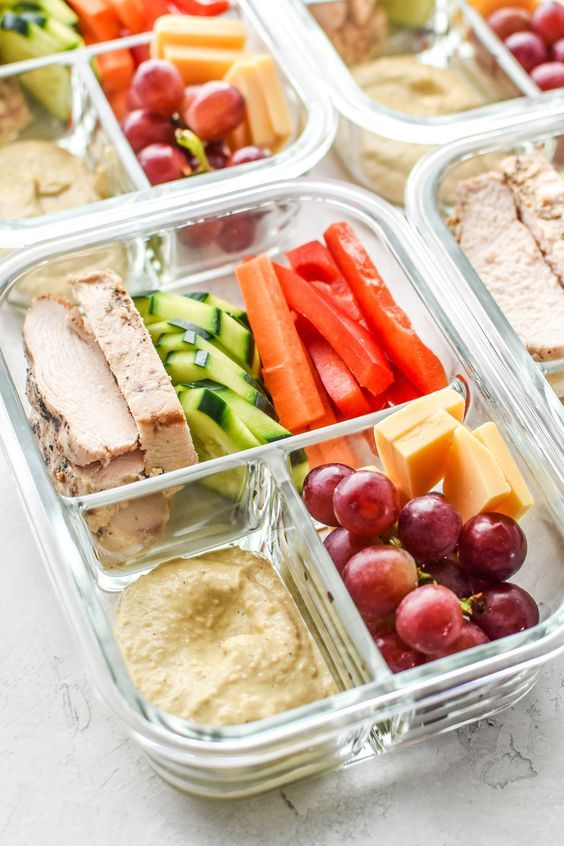 Chicken and Hummus Plate Lunch Meal Prep   Healthy recipes vegan gluten-free   Girlfriend is Better