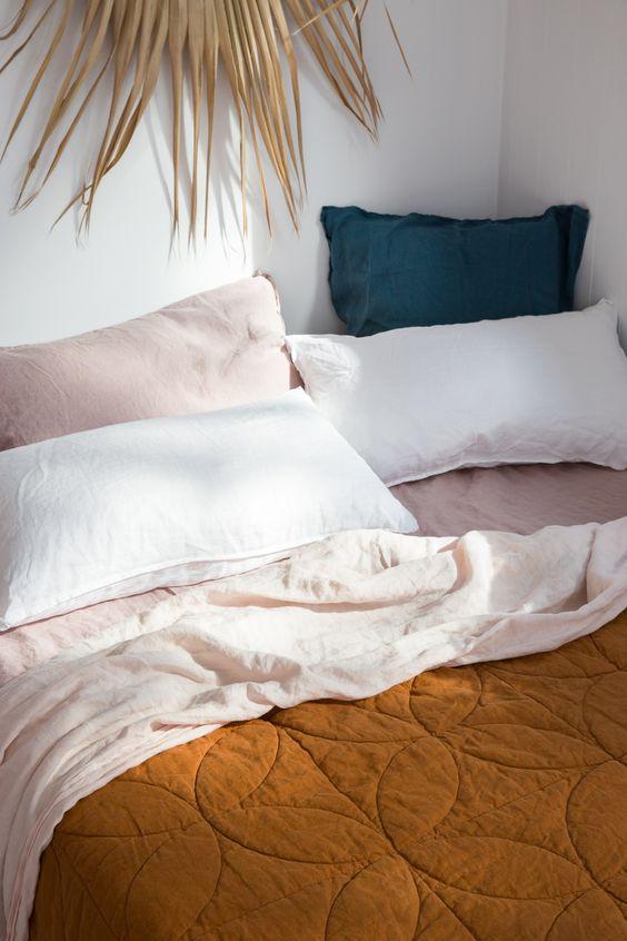 French linen bedding   blanket sheets pillowcases   Girlfriend is Better