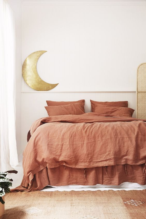 French linen bedding   100% flax quit cover bed shams   Girlfriend is Better