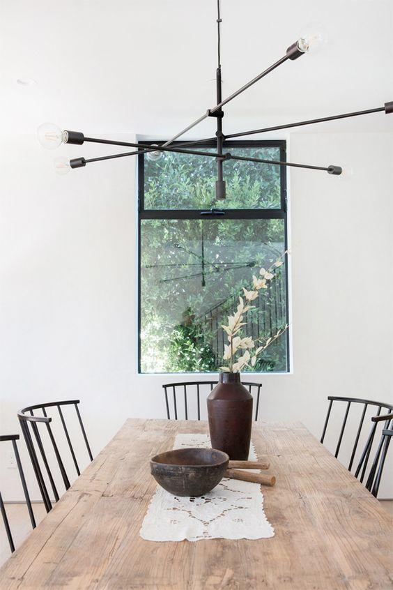 Virgo astrology home decor guide | mid-century modern dining table lighting | Girlfriend is Better