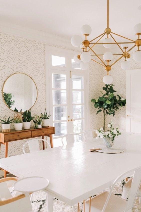 Virgo astrology home decor guide | Mid-century modern dining room lighting | Girlfriend is Better