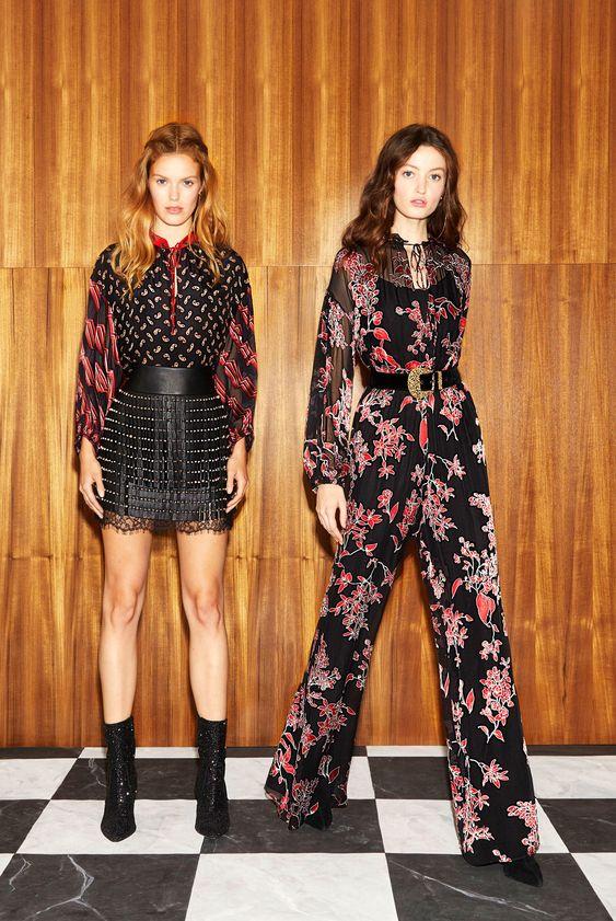 Bourgeois Bohemian floral belted jumpsuit dress bishop sleeves | Girlfriend is Better