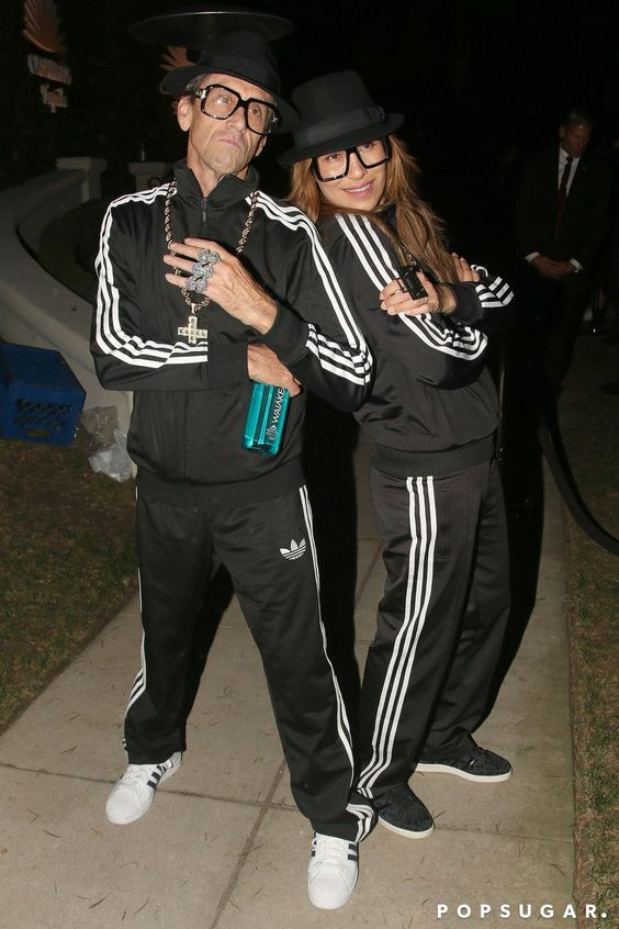celebrity Halloween costumes   Run-DMC   Adidas tracksuit shoes   Girlfriend is Better