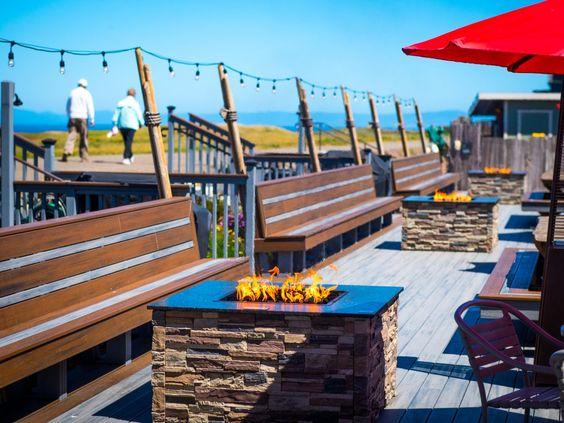 Fort Bragg California coastal weekend travel guide | Beachcomber Motel ocean view patio fire pits | Girlfriend is Better