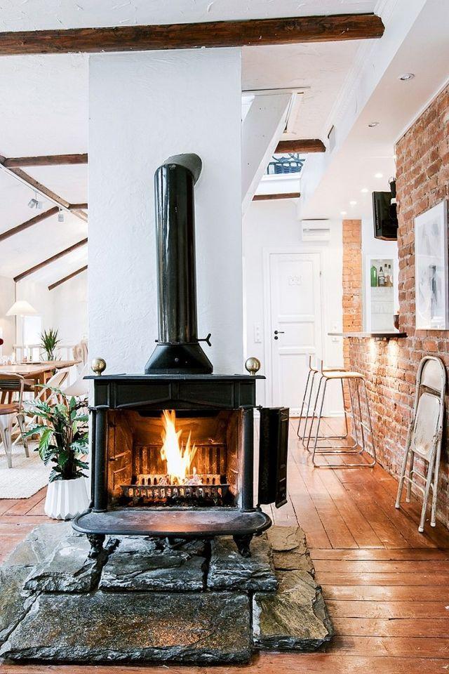 fire element Feng Shui | black iron fireplace | Girlfriend is Better