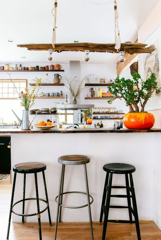 fire element Feng Shui | kitchen bar stools red pottery | Girlfriend is Better