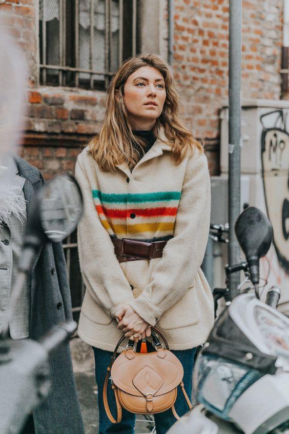 Southwestern jackets | vintage Pendleton wool blanket | Girlfriend is Better
