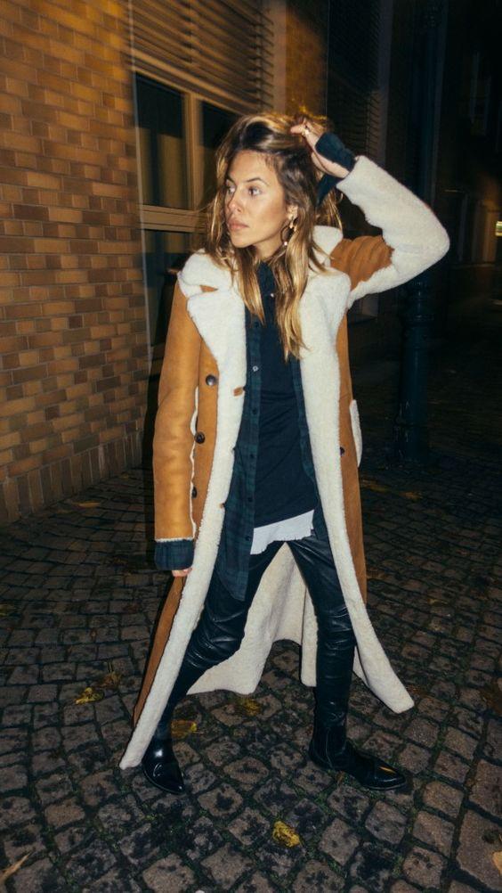 Southwestern jackets | shearling lined leather duster coat | Girlfriend is Better