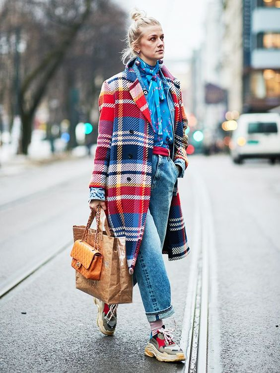 full-length coats plaid wool double-breasted Winter fashion   Girlfriend is Better