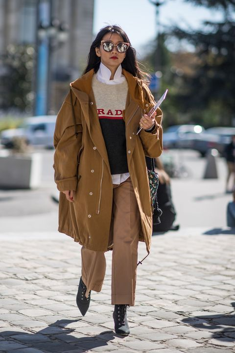 full-length coats hooded canvas oversized camel   Girlfriend is Better