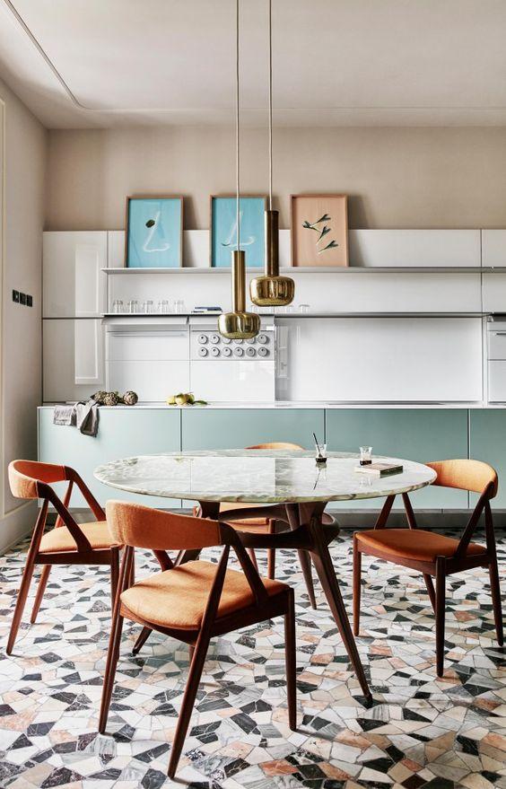 graphic tile | terazzo kitchen floor | Girlfriend is Better