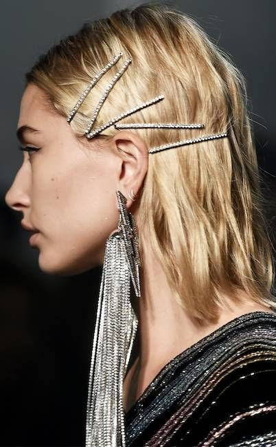 New Year outfit barrettes statement earrings silver chains   Girlfriend is Better