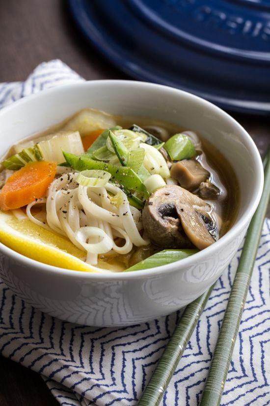 winter soup recipes vegetarian | Asian Vegetable rice noodles | Girlfriend is Better