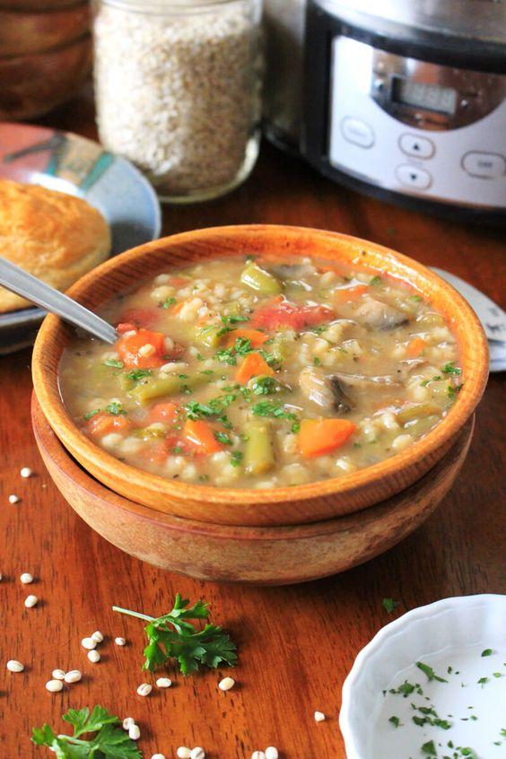 winter soup recipes vegetarian | Slow Cooker Vegetable Barley | Girlfriend is Better